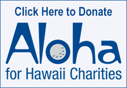 Aloha for Hawaii Charities Campaign button