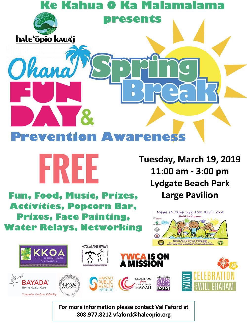 Ke Kahua O Ka Malamalama presents Ohana Fun Day & Prevention Awareness
