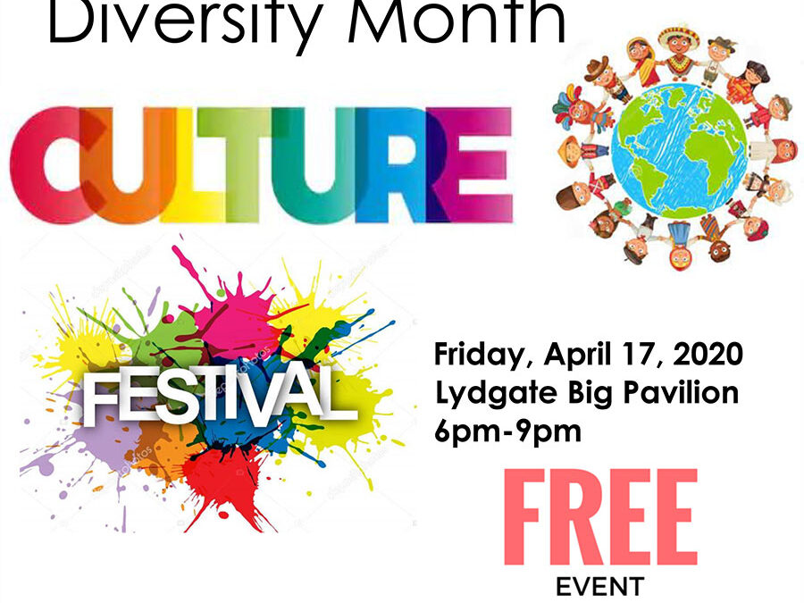 Celebrating Diversity Month – CANCELED DUE TO COVID-19
