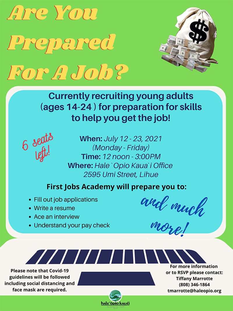 First Jobs Academy Flyer