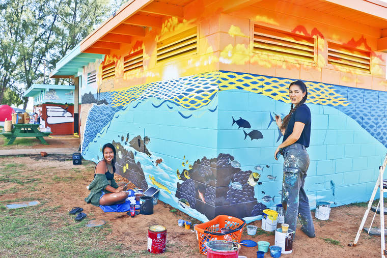 Mural depicts Salt Pond's origin