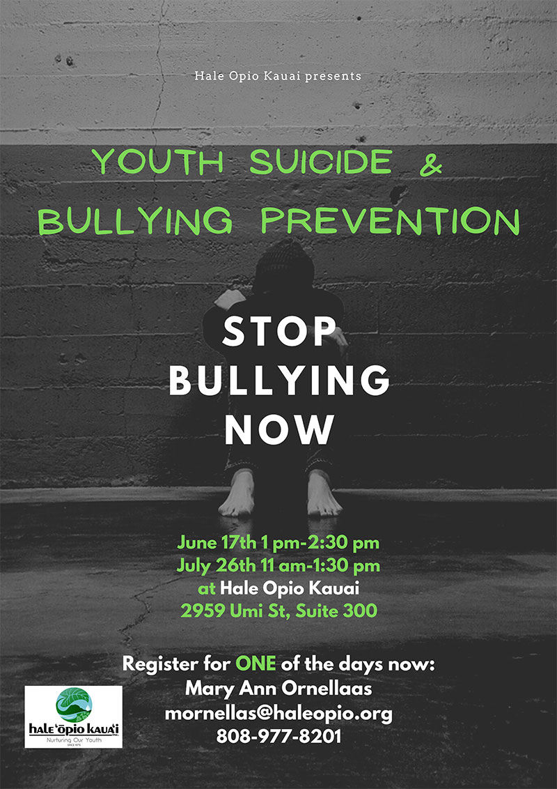 Youth Suicide & Bullying Prevention 2021